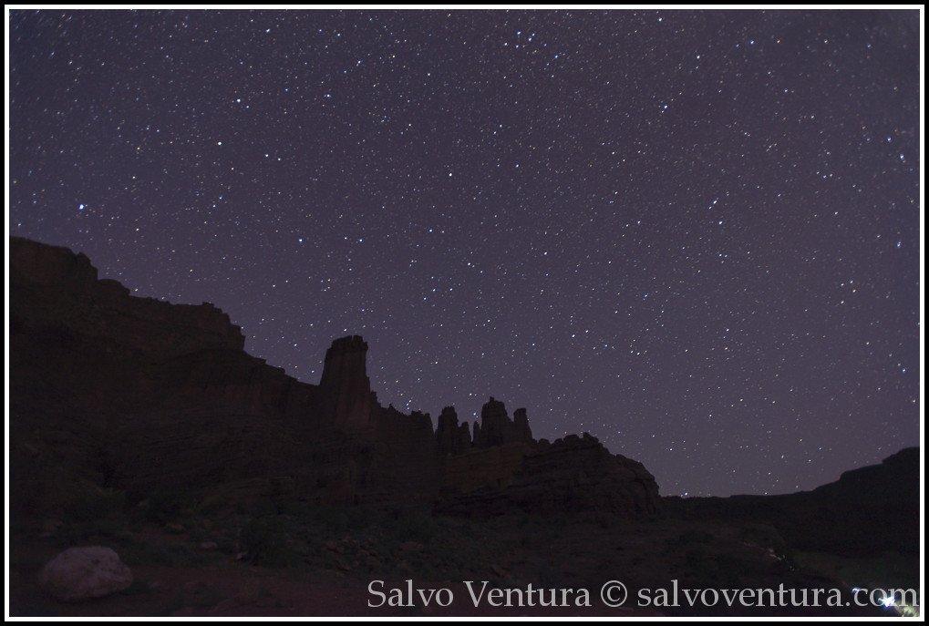 Night Sky - Fisher Towers, Moab UT
