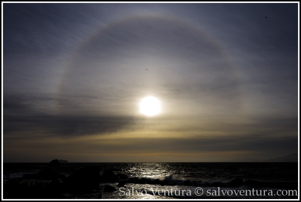 Sun ring at Lands End