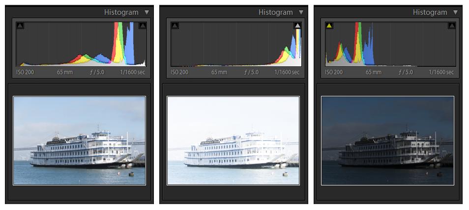 understanding image properties exposure compare