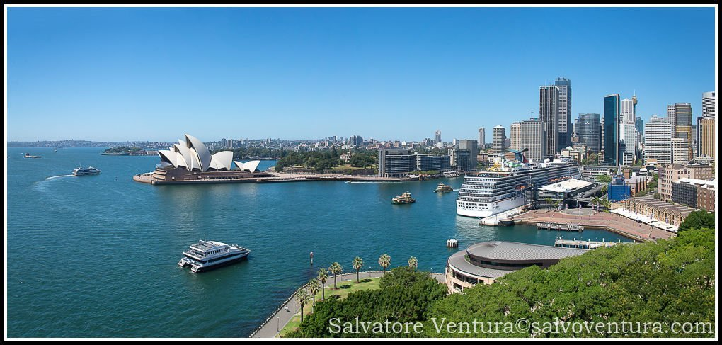 2016 March - Panoramic view of the Harbour, Sydney, Victoria - Australia
