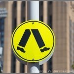 2016 March - Pedestrian Sign, Sydney, Victoria - Australia