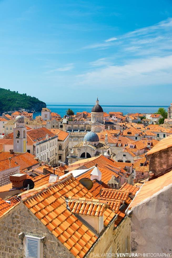 Dubrovnik, Croatia - View from the top of the city walls