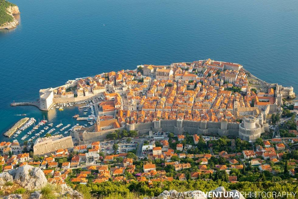 Dubrovnik, Croatia - View from the top of the Srd Hill