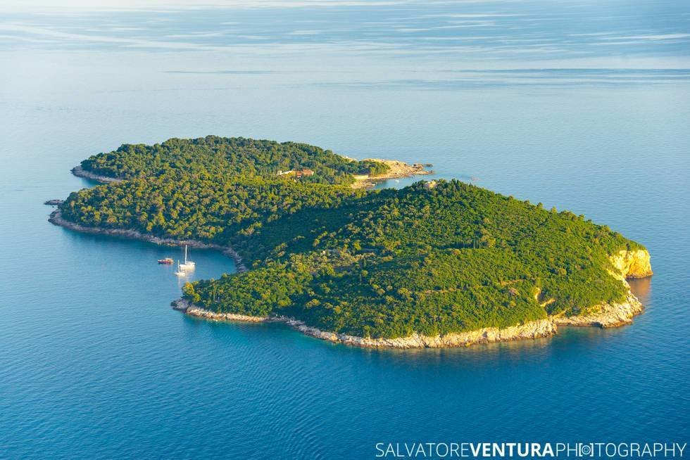Lokrum Island, Dubrovnik, Croatia - View from the top of the Srd Hill