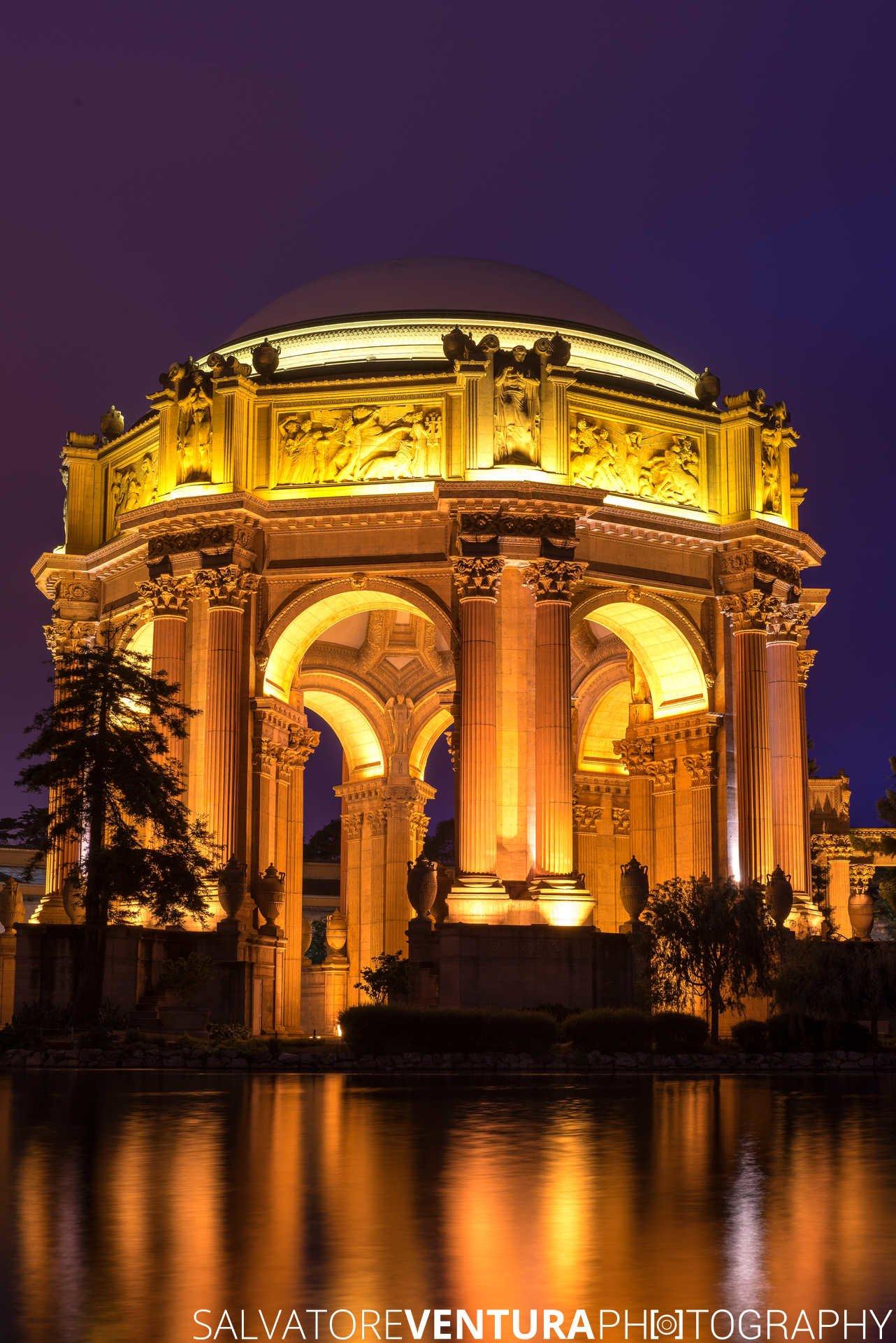 Palace of Fine Art, San Francisco (night photograph/long exposure) - Salvatore Ventura Ph[o]tography