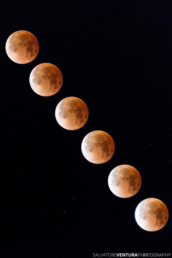 2018 Super blue blood moon eclipse sequence