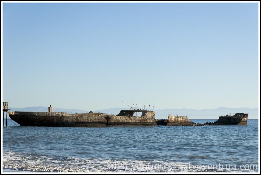 SS Palo Alto, Seacliff State Beach, Aptos, California