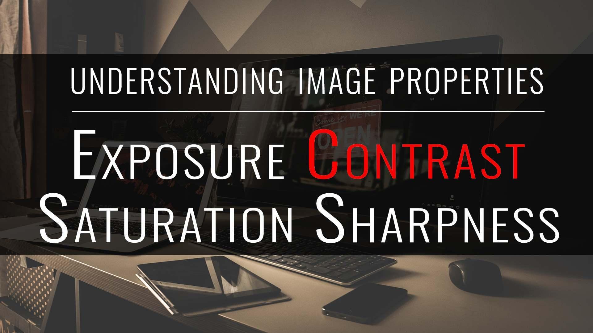 tutorial: understanding image properties, contrast